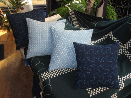 sashiko throw pillows