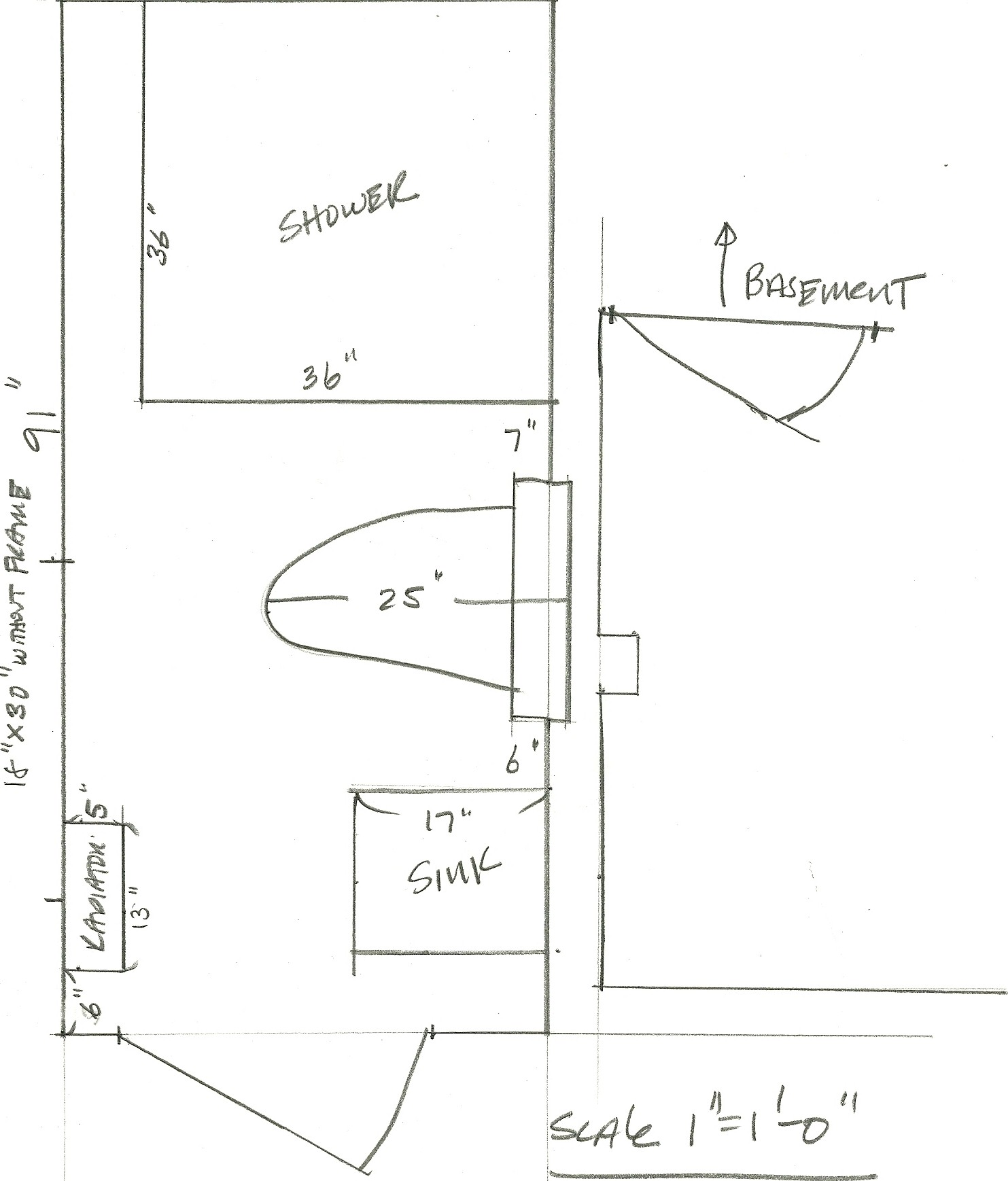 "Bathroom Floor Layout: Renovation Report…""Oldating"" The Beach House Bathroom"