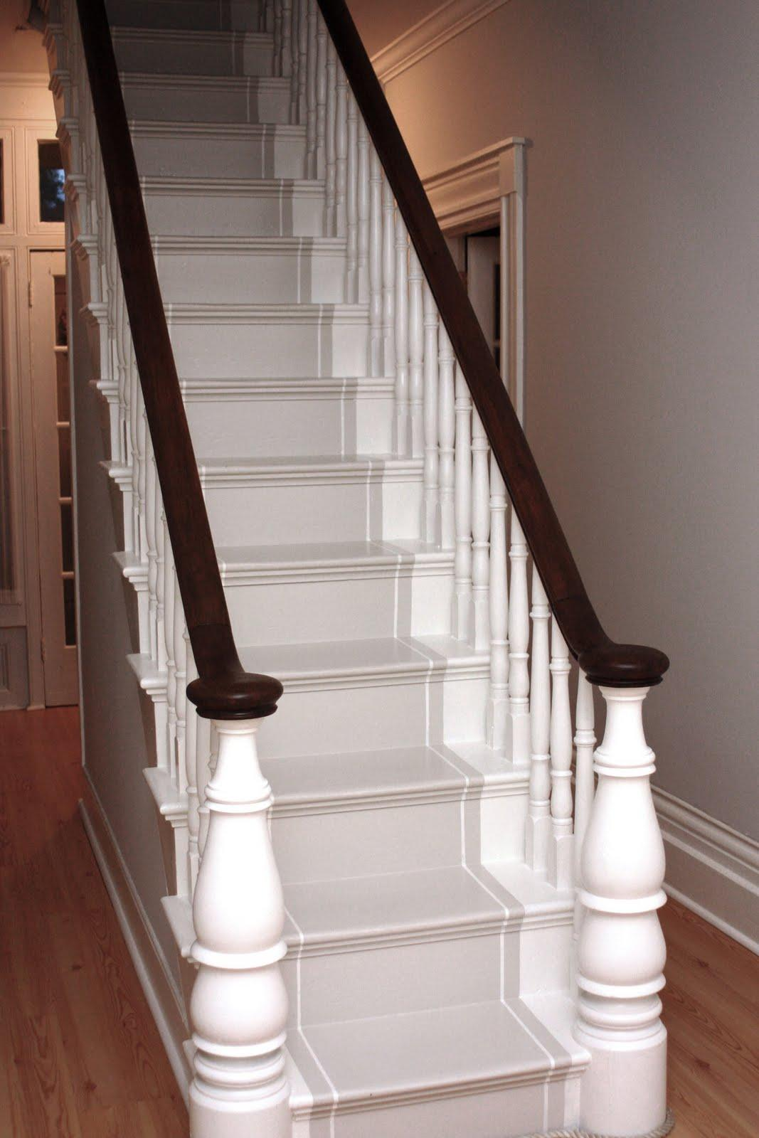 Stairway solutions musings on runners risers and treads - Painting wooden stairs white ...
