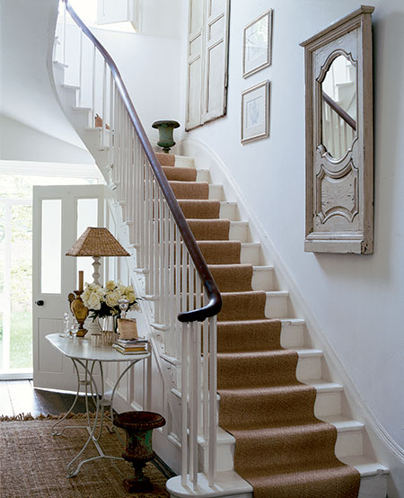 Beautiful Front Hall And Staircase: Stairway Solutions…Musings On Runners, Risers And Treads