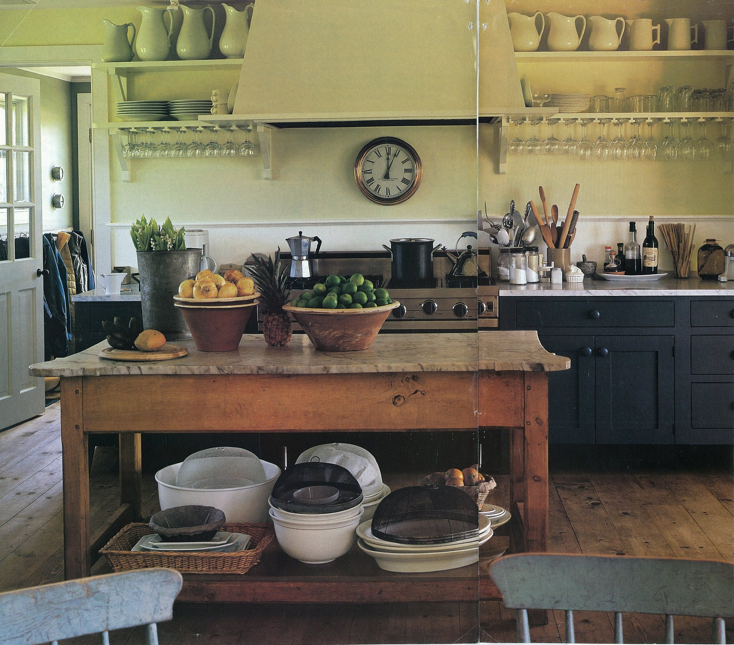 Kitchens With No Upper Cabinets: Peri Wolfman Style On Pinterest