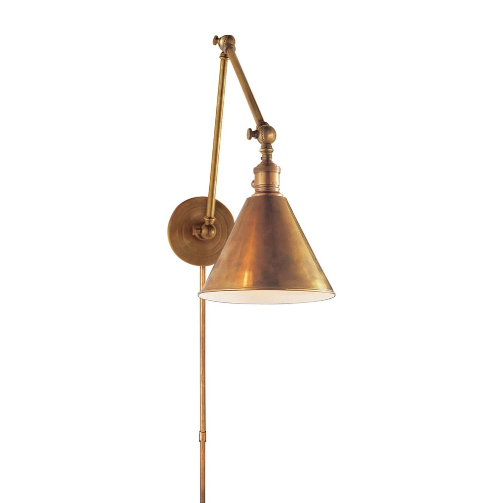 Plug In Library Wall Sconces : Sweating the Details?A Round-Up of Brass Library Wall Sconces