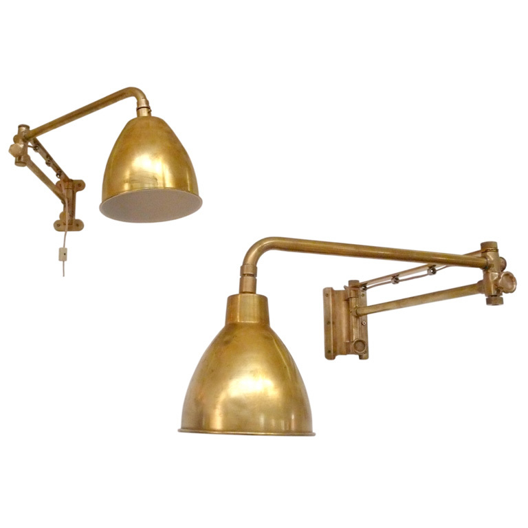 Sweating the Details…A Round-Up of Brass Library Wall Sconces