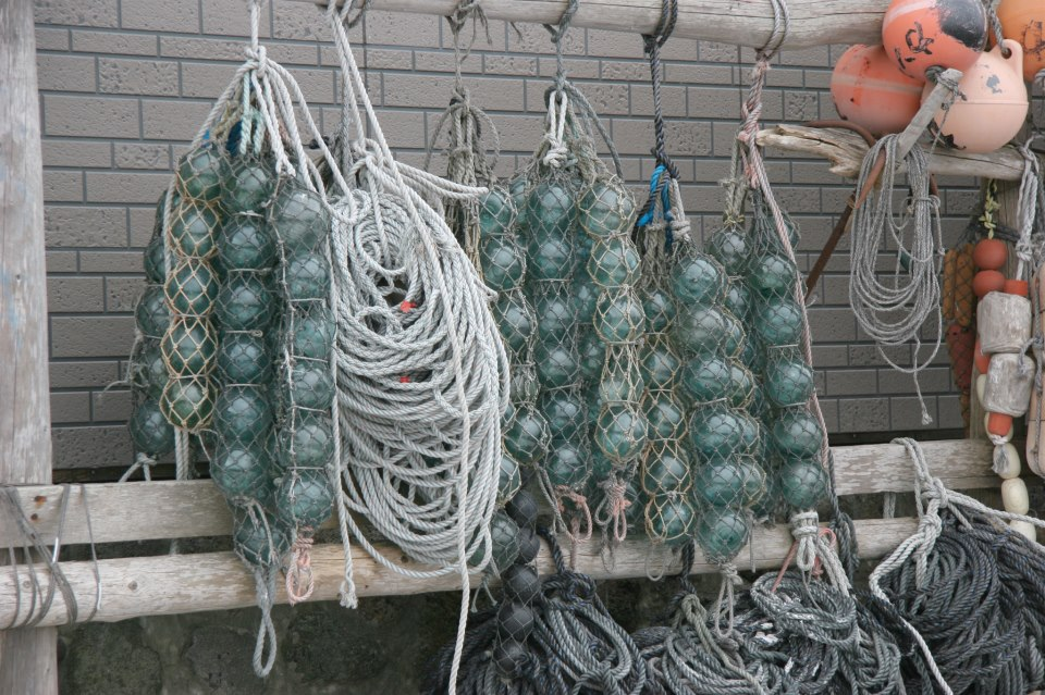 Glass fishing floats for the holidays for Japanese glass fishing floats