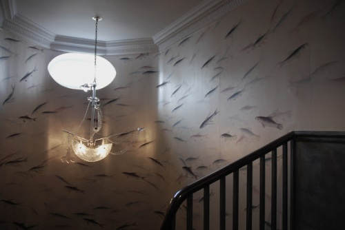 de gournay fish ship chandelier via everything leb