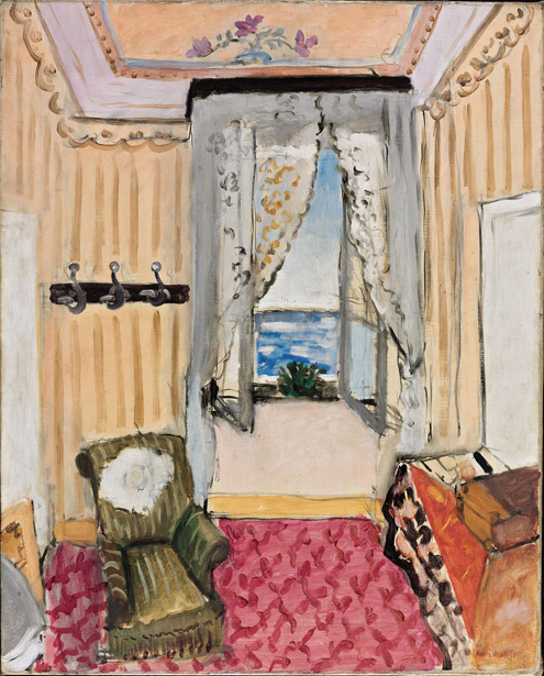 Henri Matisse (French, 1869–1954) Interior at Nice (Room at the Hôtel Beau-Rivage), 1918