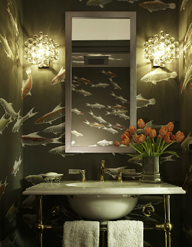 Katie Ridder fish bathroom via KR
