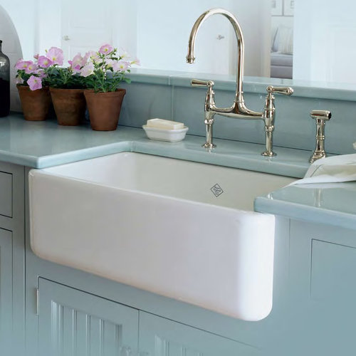 Lovely Perrin Rowe Faucet Shaws Farmhouse Sink