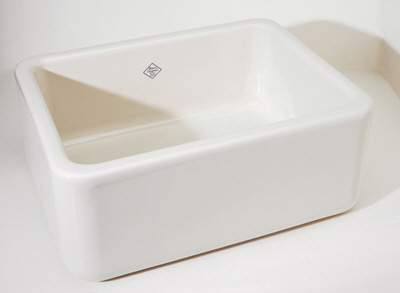 Rohl-RC2418BS-Shaws-Original-Fireclay-Apron-Kitchen-Sink---Biscuit-(Pictured-in-White)