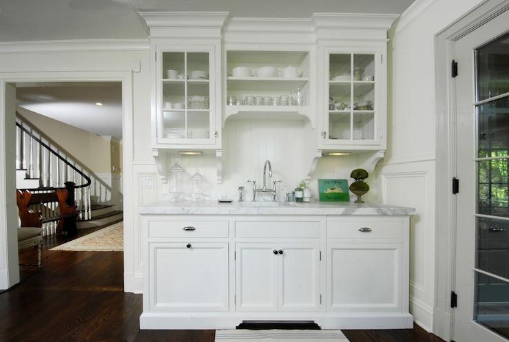 Lovely White Kitchen Glass Cabinets Via Decor Pad Muse Interiors U2026