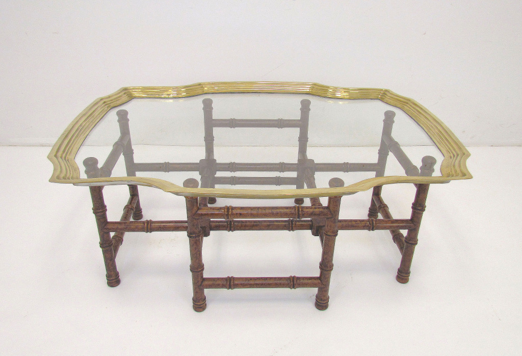 Baker Glass Brass Coffee Table Rectangle ModHaus 1stdibs ...