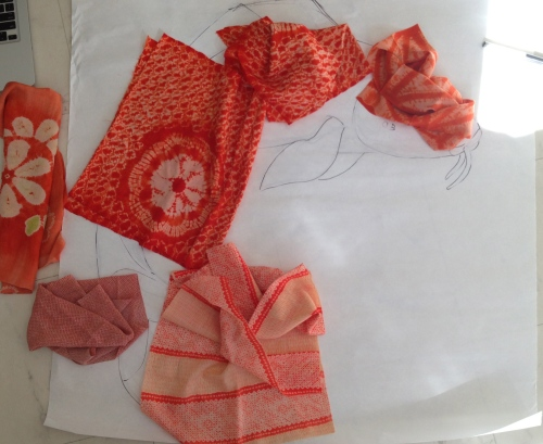 orange koi fabrics