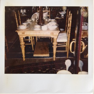 polaroid of table