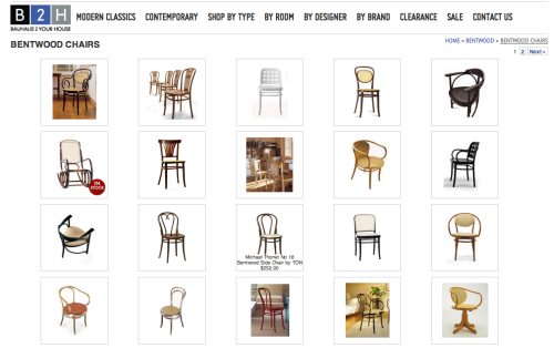 bauhaus 2 your house bentwood chairs