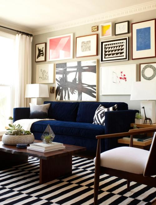 Emily Henderson West Elm gallery-wall-in-living-room