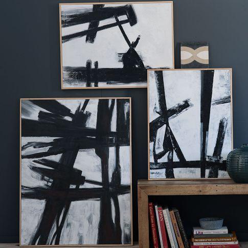 West Elm abstract Franz Kline