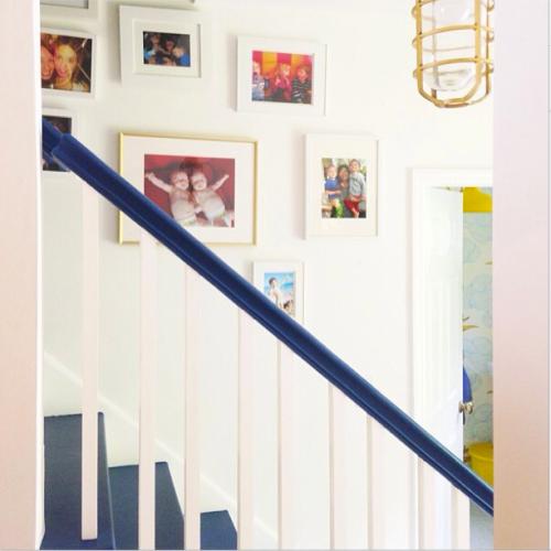 Emily Henderson blue stairs instagram