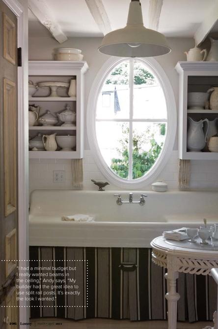 Andy Newcom antique porcelain kitchen sink