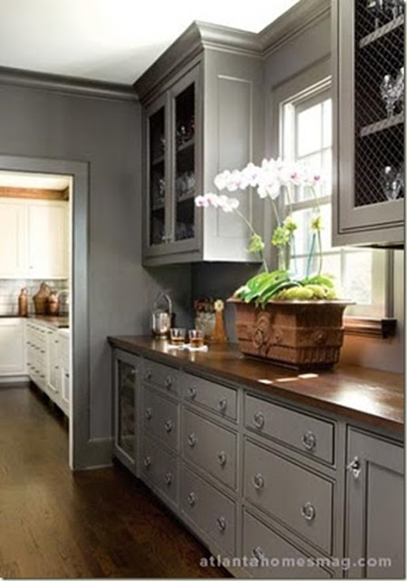 gray kitchen atltanta homes mag wood counter