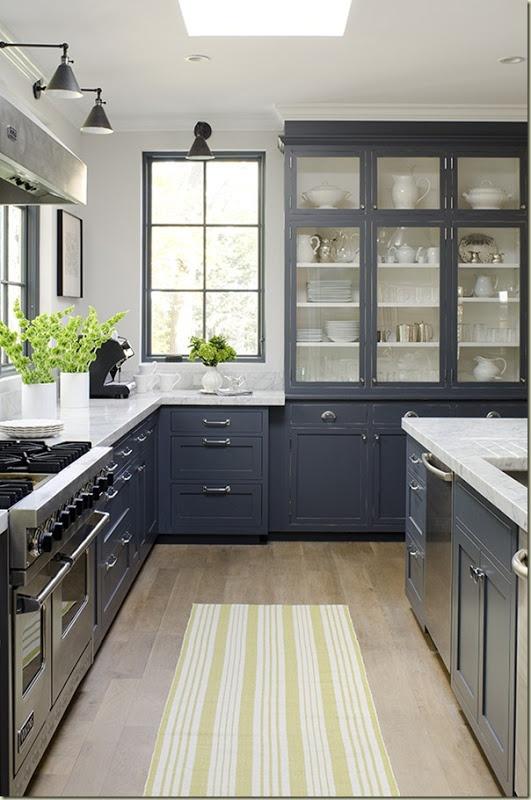 Tokyo Jinja Kitchens - Grey lower kitchen cabinets
