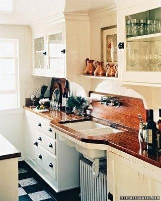 kitchen wooden drainboard martha stewart