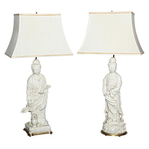 Blanc de Chine lamps via 1st dibs Winston