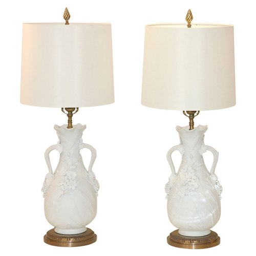 blanc de chine lamps via style court 2007