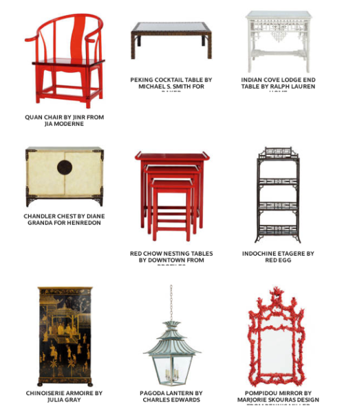 Elle Decor Top 10 chinoiserie