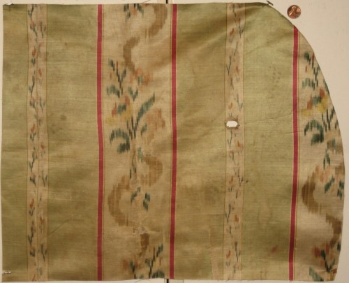 antique french floral ikat