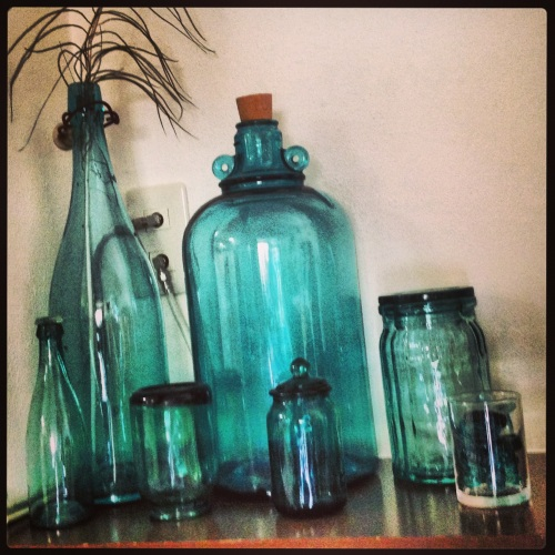 other glass jugs and bottles