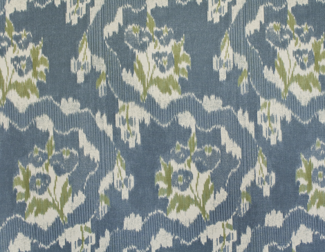 Parlor Textiles French Ikat Classic Blue
