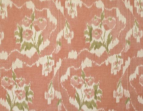 Parlor Textiles French Ikat Medium Pink