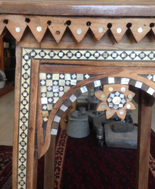late 19thc inlaid Syrian table