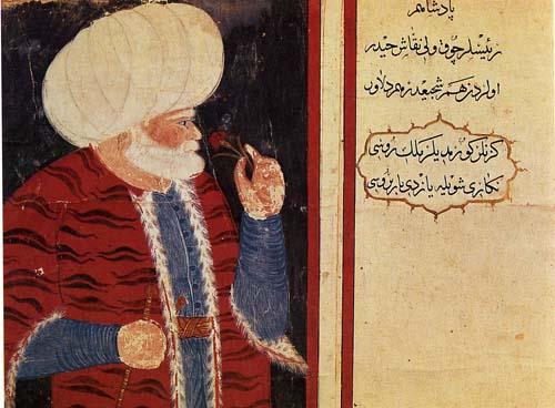 Haydar Reis (Nigari), Admiral of the Fleet Hizir Hayrettin Pasa (Barbarossa)  (Topkapi Palace Museum)