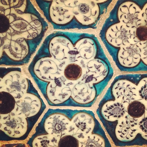 Tiles in Turkish bath hammam