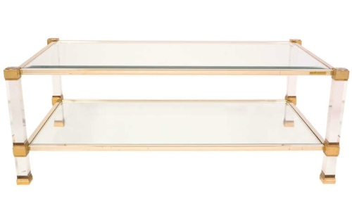 Pierre Vandel Lucite Coffee Table 1stdibs