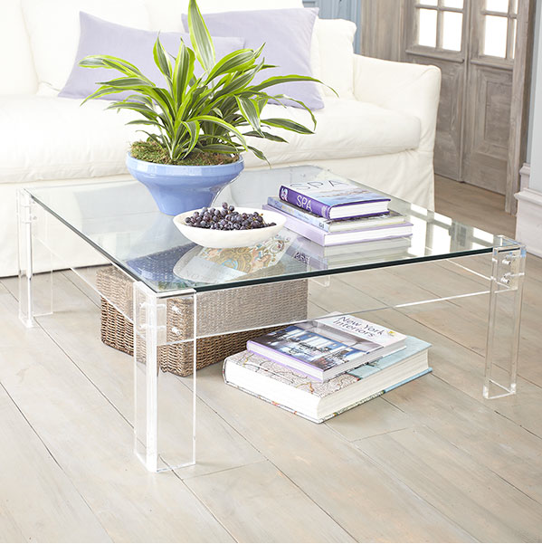 A Clear Choice…Modern Brass, Glass And Lucite Coffee Tables