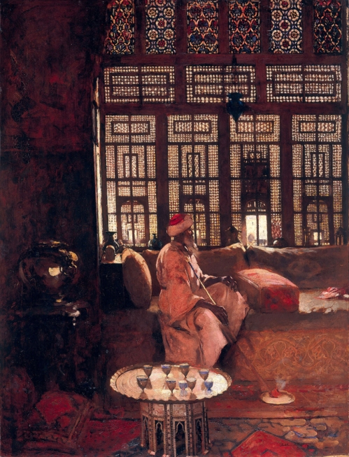 Arthur Melville, An Arab Interior, 1881, courtesy National Galleries of Scotland.