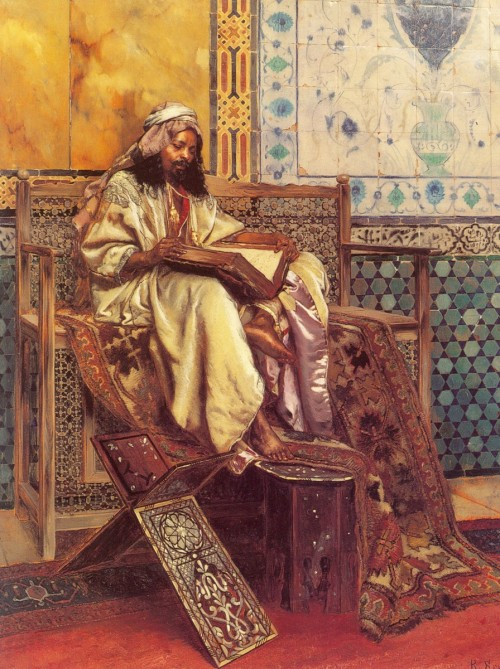 Rudolf Ernst Reading the Koran
